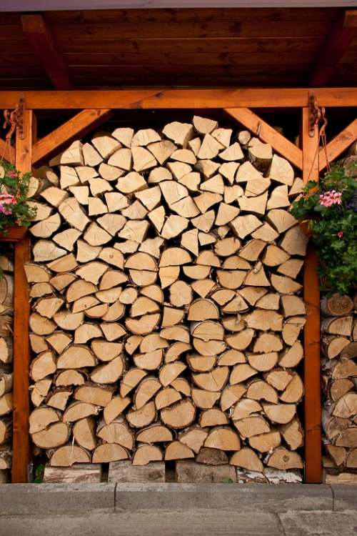Cut Energy Firewood Fuel Log Lumber Material