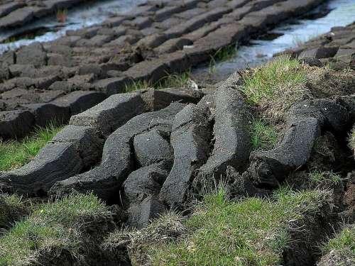 Cutting Peat Field Landscapes Nature