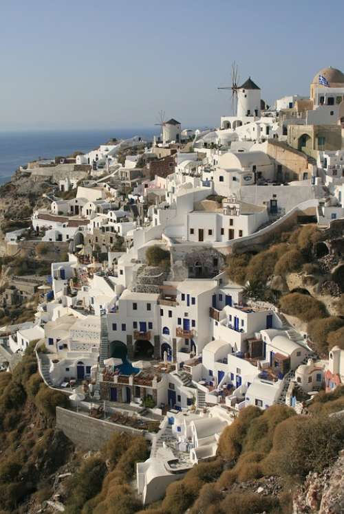 Cyclades Greece Santorini The Coast