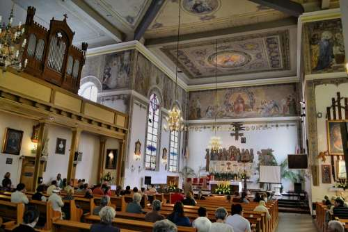 Czaplinek Poland Church Interior Inside