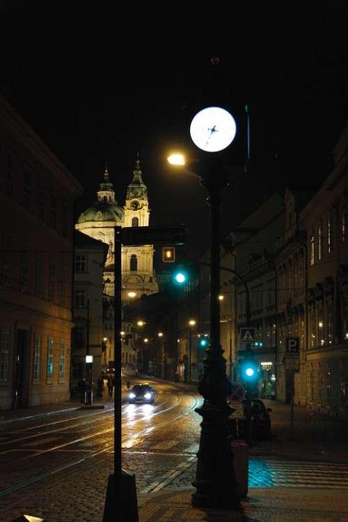 Czech Republic Night Contrast Prague