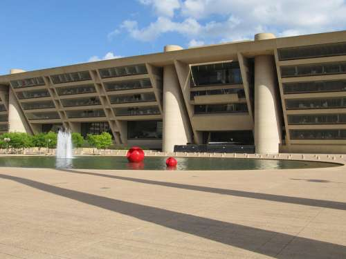 Dallas City Hall Plaza Building Texas Modern