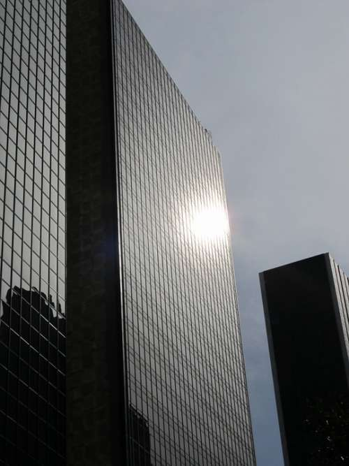 Dallas Skyscraper Glass Facade Office Buildings