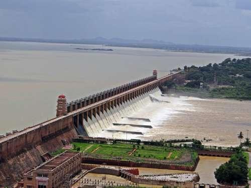 Dam Tungabhadra River Hospet Karnataka India