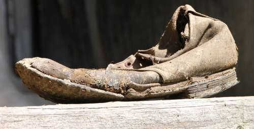 Damage Dirty Old Rusty Shoes Clothing