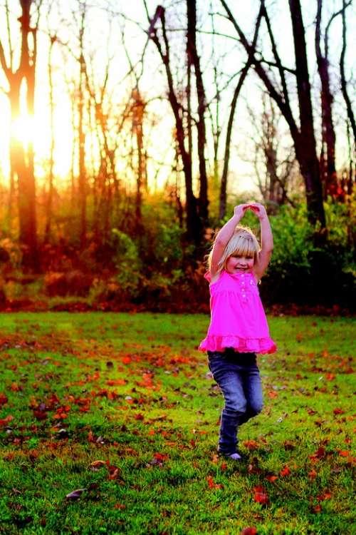 Dance Girl Outside Smile Cute Happy Twirl Child