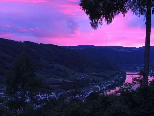 Danube Sky Sunset River