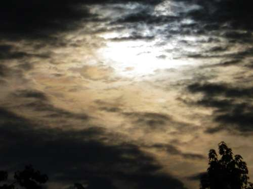 Dark Sun Awakening Mysterious Interesting Clouds