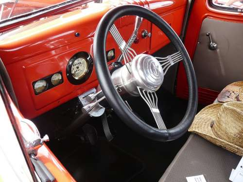 Dashboard Steering Wheel Interior Auto American
