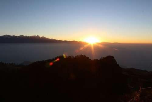Dawn Sunrise Sun Morning Morning Sun Mountains