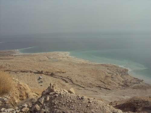 Dead Sea Eilat Israel Salt Landscape Desert Sand