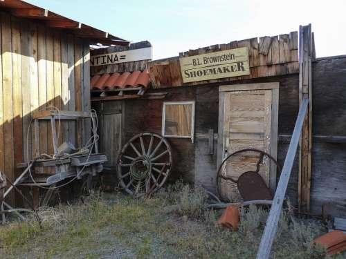 Deadman Ranch Ancient Buildings Wooden