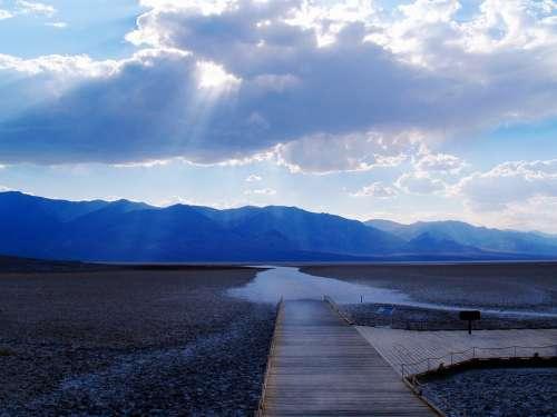 Death Valley Dessert Sunset Mountains