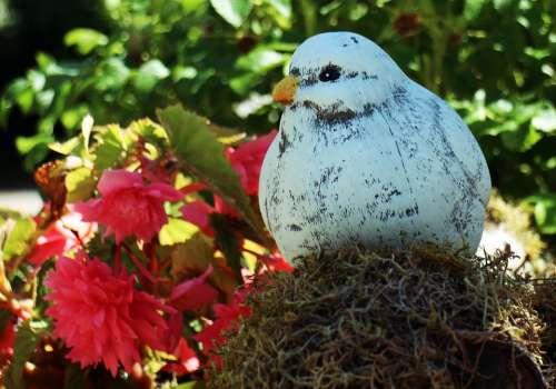 Deco Figure Replica Dove Bird Nature White