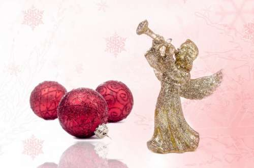 Decoration Red Christmas Time Christmas Bauble
