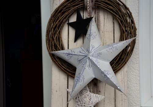 Decoration Christmas Star Wood Advent
