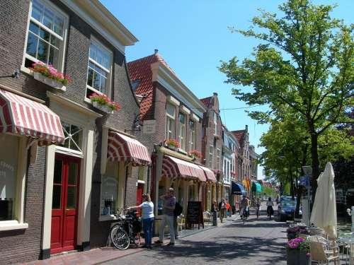 Delft Netherlands Holland Street Shops City