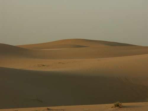 Desert Sand Dunes Dubai Uae Sahara