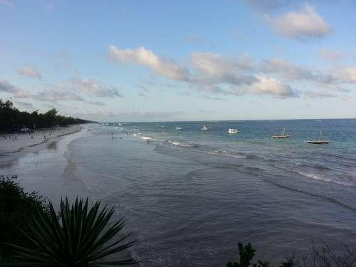Diani Beach Kenia Africa Sand Ocean Paradise