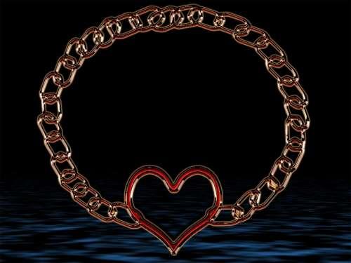 Digital Art Heart Chain Feelings