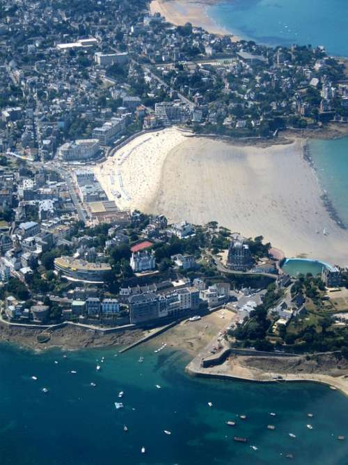 Dinard Brittany Sea Beach France Aerial View