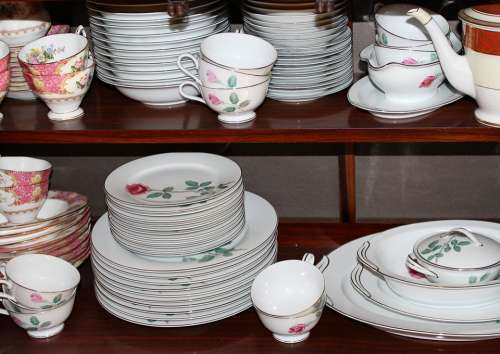 Dinnerware China Porcelain Plates Saucers Cups