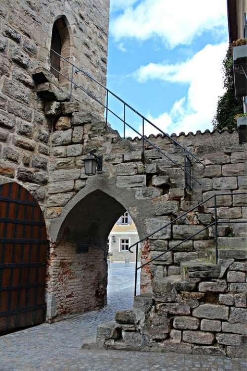 Dinosaur Altstadttor Historic Old Town Stone Stairs