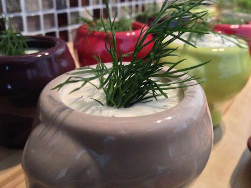 Dip Eat Culinary Quark Herbs