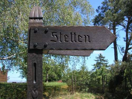 Directory Signposts Wood Remstal Stetten Germany