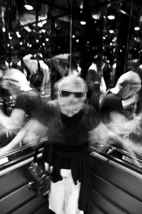 Disco Dance Movement Black And White Mirror