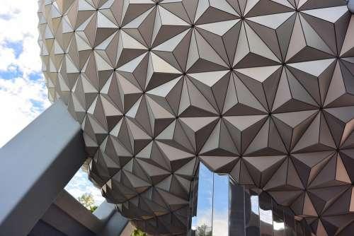 Disney Amusement Park Ball Epcot Architecture
