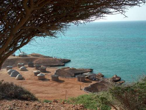 Djibouti Africa Ras Bir Beach Sea Toukouls Side