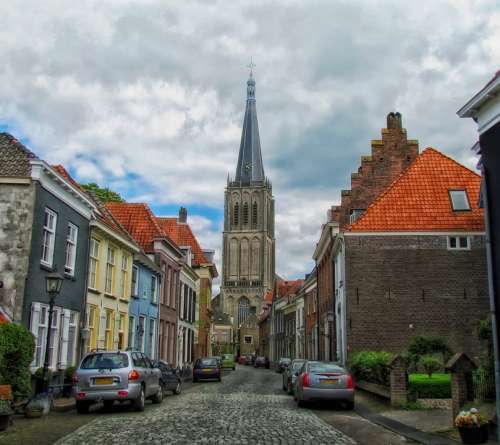 Doesburg Netherlands Town Urban Cars Buildings