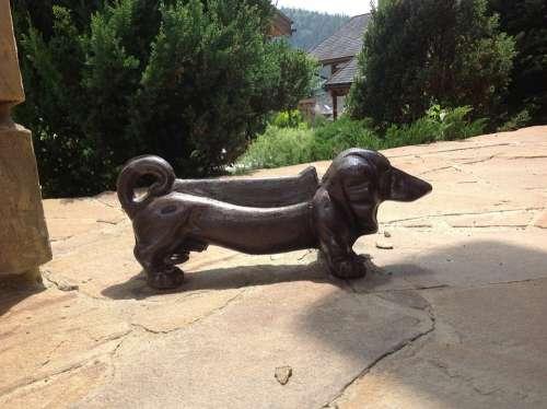 Dog Statuette Cast Iron