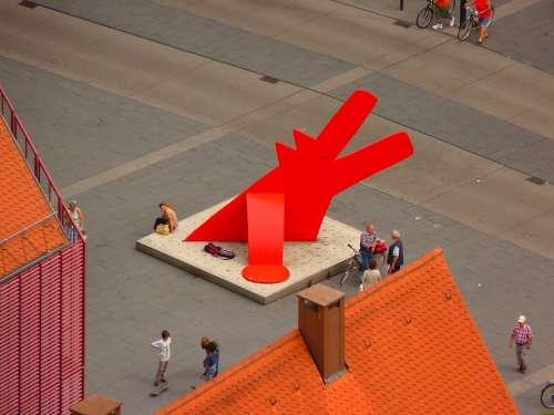 Dog Keith Haring Red Dog Artwork Ulm