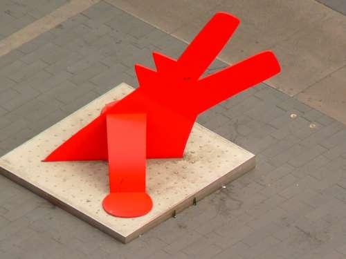 Dog Red Dog Keith Haring Artwork Ulm Red Art