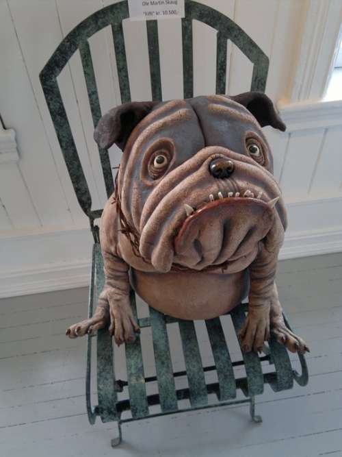 Dog Chair Pottery Sitting