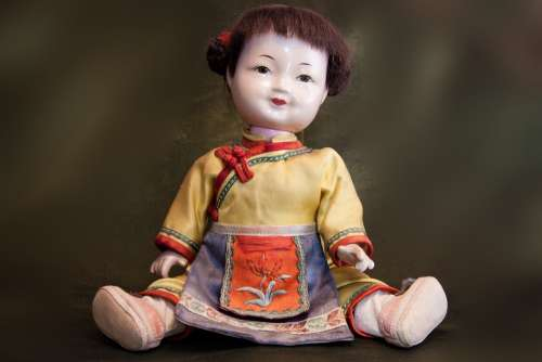 Doll Japan Japanese Sitting Old Toys Kimono