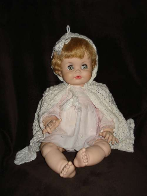 Doll Antique Girl Baby Child Face