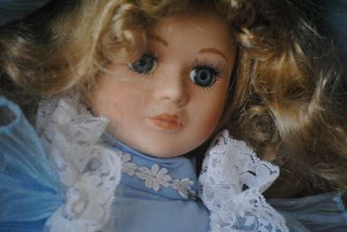 Doll Porcelain Antique Vintage Girl Face Head