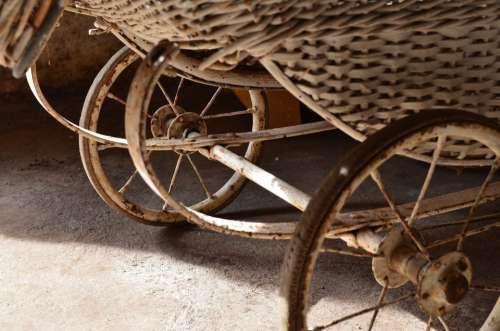 Doll Prams Old Vintage Antique Wheel Wheels