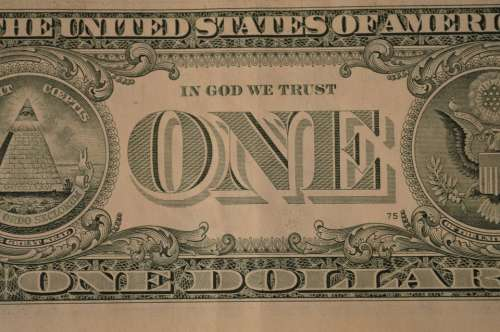 Dollar One Banknote Bill Money Cash Currency Usa