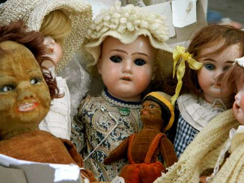 Dolls Antique Vintage Toys Retro Children