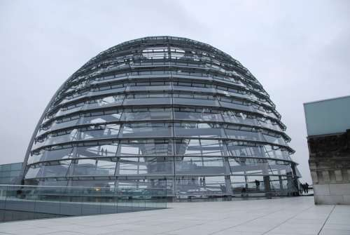 Dome Glass Architecture Modern Parliament Berlin