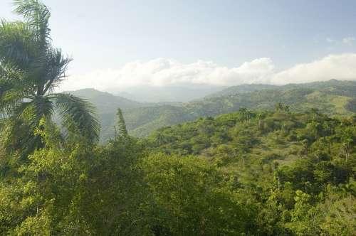 Dominican Republic Landscape Sky Clouds Mountains