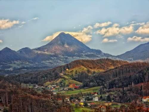 Donacka Mountain Landmark Landscape Scenic Forest