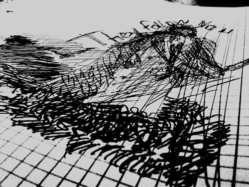 Doodle Art Pen Black White