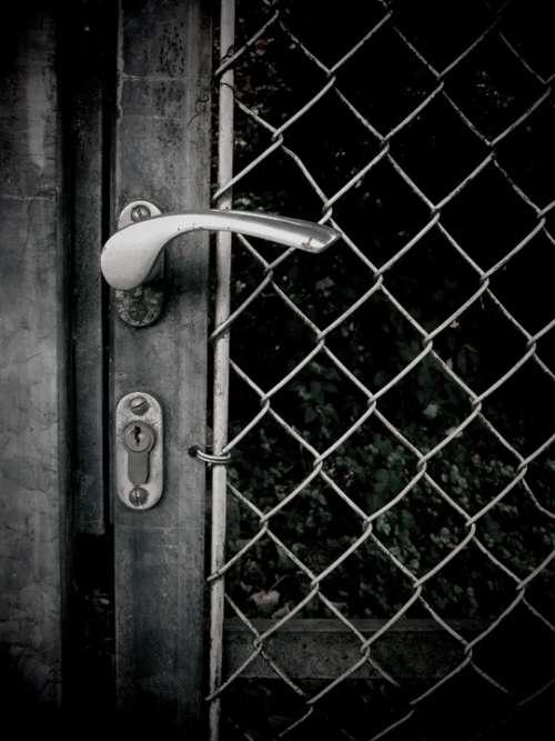 Door Door Lock Door Handle Closed Grid