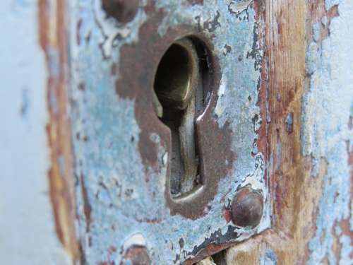 Door Old Security Entry Input Key Hole