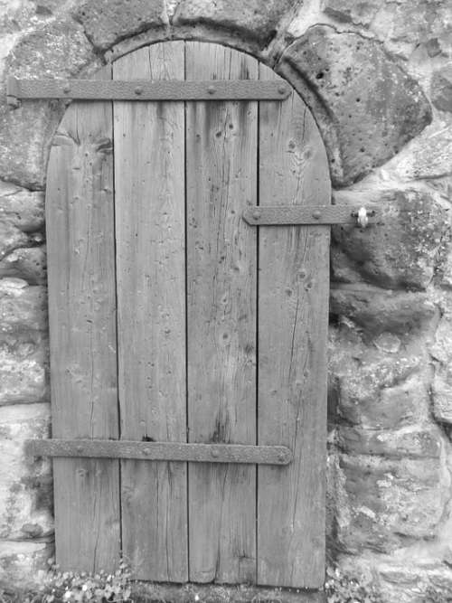 Door Building Outside Decorative Wooden Church